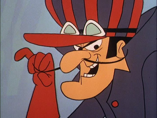 Dick Dastardly - with a name like that, he was never likely to race by the rules.